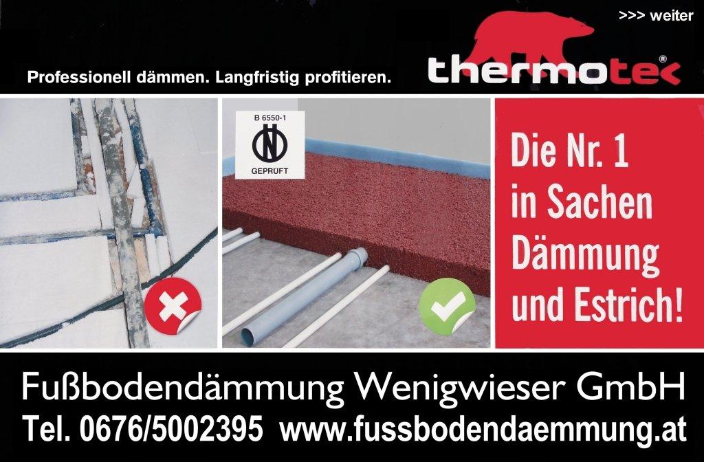 Sponsor Fußbodendämmung Wenigwieser Bad Zell